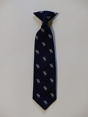CHEROKEE Boys Navy Blue Moose Holiday Clip On Necktie Tie 2T - 5T