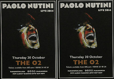 2 X Paolo Nutini 2014 London O2  Flyer Cards - Caustic Love
