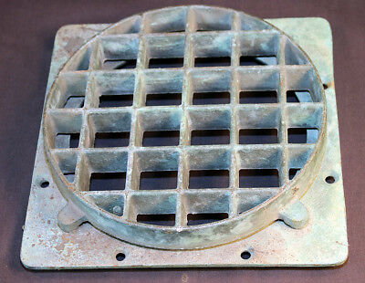 "Antique Brass Porthole Cover Grill Maritime Ship 9""  8lbs Nautical Trivet"
