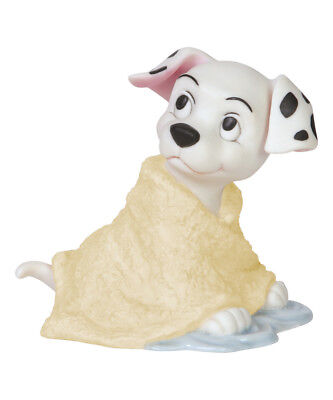 """Precious Moments Disney 101 Dalmatians Lucky """"missed Spot"""" 144703  Free Shipping"""
