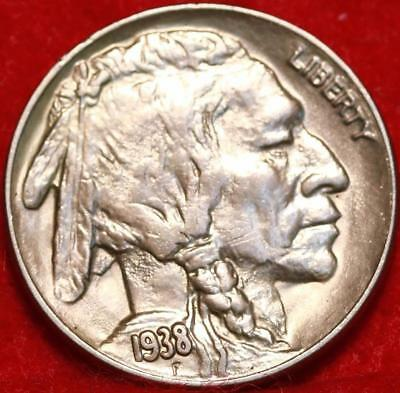 Uncirculated 1938-D/D Denver Mint  Buffalo Nickel Free Shipping