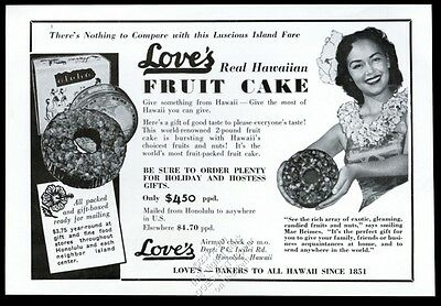 1966 Love's Bakery Honolulu Hawaii Hawaiian fruit cake photo vintage print ad