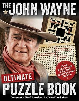 John Wayne Ultimate Puzzle Book by Media Lab Books Paperback Book Free Shipping!