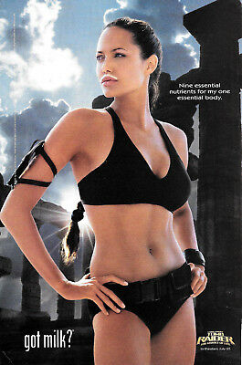 2003 ANGELINA JOLIE - Sexy LARA CROFT - Tomb Raider -Got Milk? VINTAGE AD