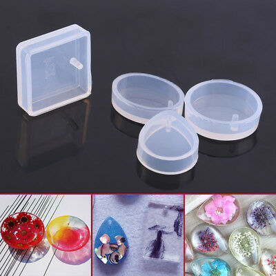 5Pcs/Set Casting Silicon Pendant Mold Mould Jewelry Making Tool For Epoxy Resin