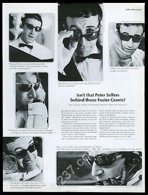 1965 Peter Sellers 6 photo Foster Grant sunglasses vintage print ad
