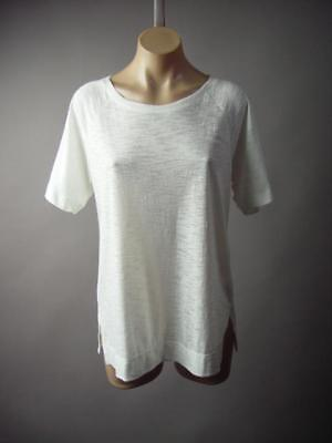 White Sporty Casual Minimalist Basic Burnout Baseball Tee Top 190 mv Shirt M L