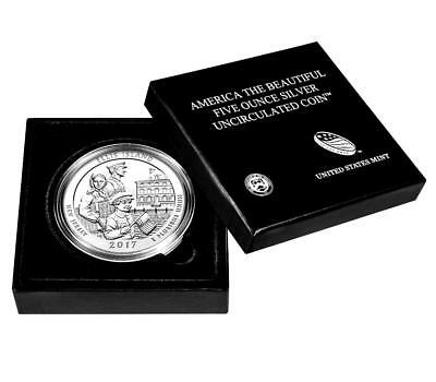 *NEW-US MINT> 2017 5oz Silver ATB Ellis Island-NJ Am Beautiful Coin(BU)w/Pres Bx