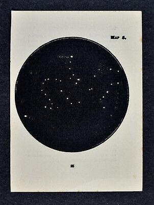 1903 Gall Star Map 5 - Draco The Dragon - Constellation Miniature Sky Chart