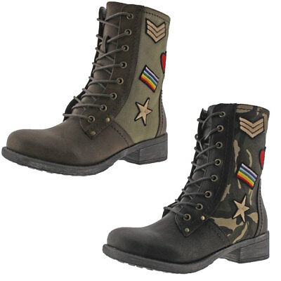 MIA Nate Patched Women's Military-Inspired Combat Boots