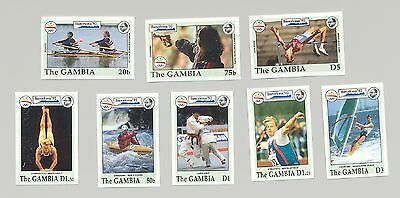 Gambia #1266-1273 Barcelona Olympics 8v Imperf Proofs