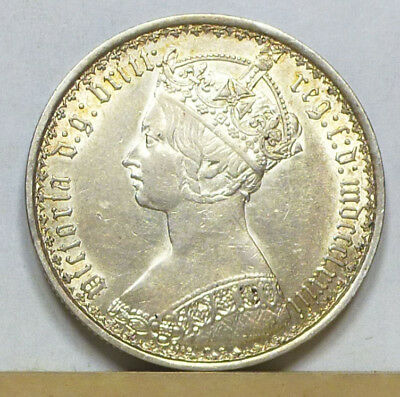 Great Britain Gothic Florin 1873 EF/Almost Uncirculated