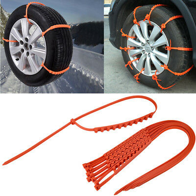 1/5/10 Winter Anti-skid Chains Car Snow Mud Wheel Tyre Thickened Tire Tendo LOT
