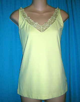 *gorgeous Bright Yellow/ Green Nylon/spandex Chico's Camisole**2**m/l**nwot**