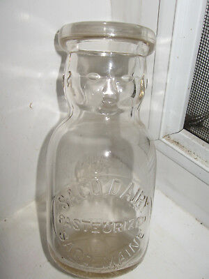 BABY FACE SACO DAIRY MAINE 1/2 pint dairy milk bottle