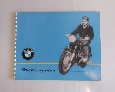 BMW R 25/3 50 67/3 69 Motorcycle Sales Brochure 1955