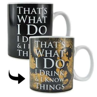 Game Of Thrones Tyron Lanister Heat Changing Magic Mug Coffee Cup New Gift Box