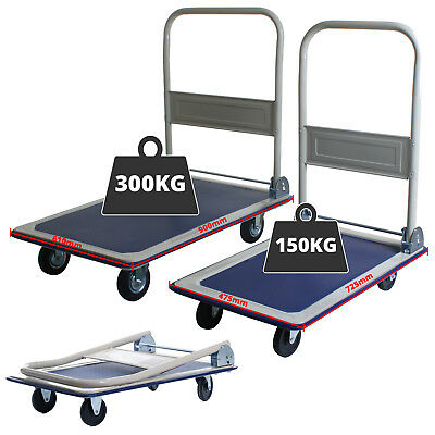 150KG or 300KG Folding Platform Trolley Truck Sack Transport Heavy Duty Flat Bed
