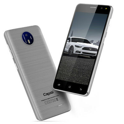 "Cagabi One 5.0"" Android 6.0 3G Smartphone Quad Core Dual SIM Téléphone 8GB GPS"