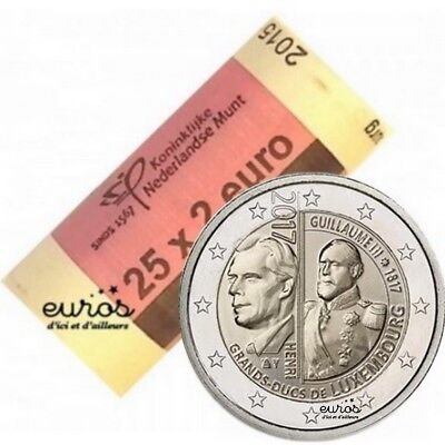 Rouleau 25 x 2 euros commémoratives Luxembourg 2017 - Grand Duc Guillaume III