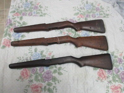 M-1 Garand stock lot of 3 WW2 or Korea ready for duty lot 1