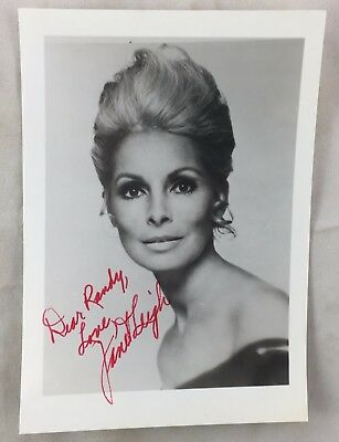 Vintage Signed Autographed Photo Actress Singer Dancer Janet Leigh Psycho +