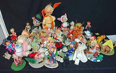 Vintage Miscellaneous Lot Of 38 Annalee Dolls