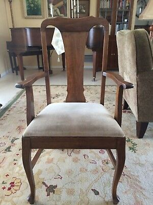 Antique Pair of Solid Cherry Stickley Console Tables Combine to Dining Table