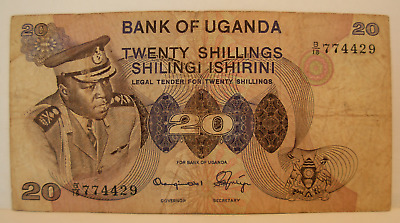 Uganda ND 1973 20 Shillings Note P7b