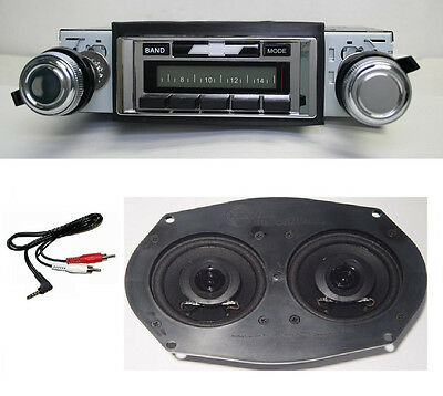 1970 Impala, Caprice Bel Air Radio + Dual Speaker + Free AUX Cable Stereo 230 **