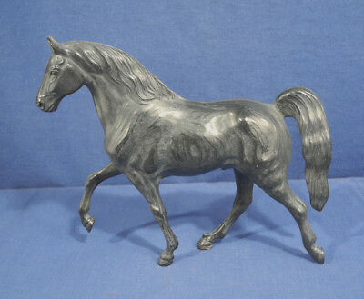 Vtg Hartland Plastics Tennesse Walking Horse Figurine Dark Gray Black Woodgrain