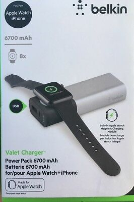 Belkin Valet 6700 mAh Portable Charger for Apple Watch and iPhone NEW