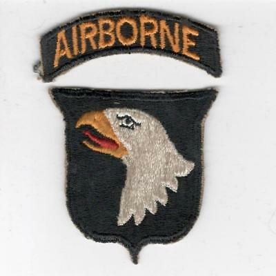 WW 2 US Army 101st Airborne Division Patch & Tab Inv# X149