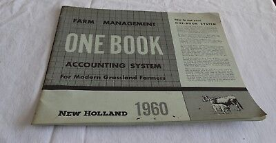1960 New Holland Tractor Company Farm Management One Book Accounting System
