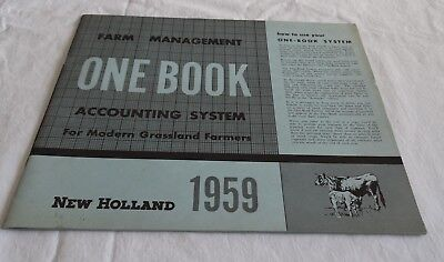 1959 New Holland Tractor Company Farm Management One Book Accounting System