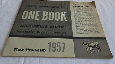 1957 New Holland Tractor Company Farm Management One Book Accounting System