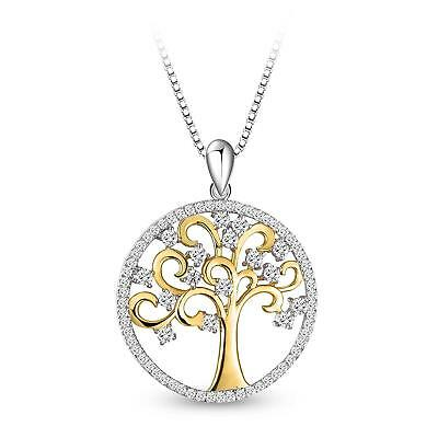 """T400 Jewelers Sterling Silver """"Tree of Life"""" Women Pendant Necklace, 18""""+2""""..."""
