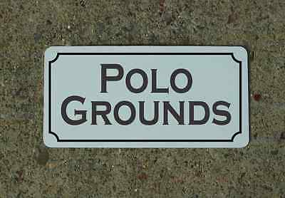 POLO GROUNDS Metal Sign Vintage Style for Horse Barn Stables Farm & Ranch Decor