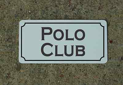 POLO CLUB Metal Sign Vintage Style for Horse Barn Stables Farm & Ranch Decor