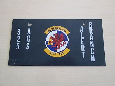 USAF 325th AGS OUT OF MANY ONE ALERT BRANCH METAL SIGN