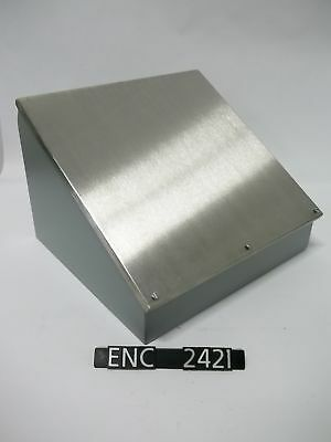 NEW OTHER IEC BS995153 16.5x15.25 Consolet Enclosure w/Sloped SS Cover (ENC2421)