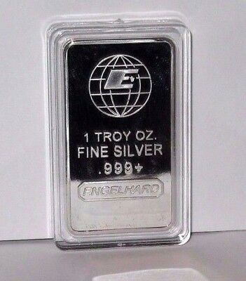 1 Ounce Silver Clad Plated Engelhard Bar In Hard Plastic Display Case!