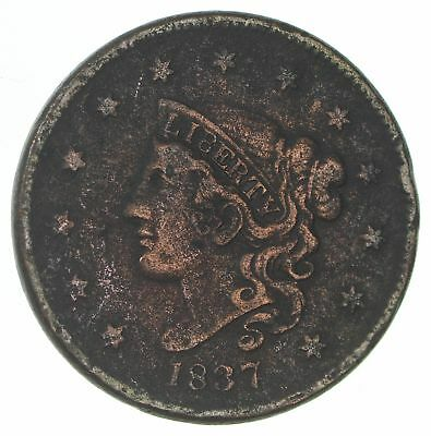 1837 - US Type Coin Braided Hair Large Cent *777