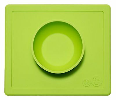 ezpz Happy Bowl - One-piece silicone placemat + bowl (Lime).