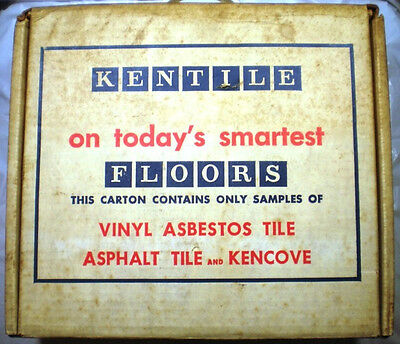 Vtg KENTILE FLOORS Inc Vinyl ASBESTOS Tile Samples 1965 HUGE LOT! RARE!