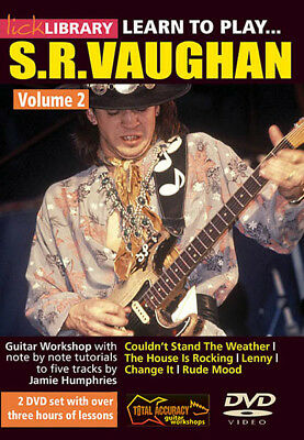 Learn to Play Stevie Ray Vaughan Guitar Technique Vol 2 SRV Lesson Video DVD NEW