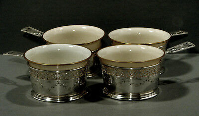 Whiting Sterling Silver Ramekins    Cups   c1910   (4)     * Original Liners *