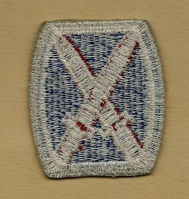 Original Ww2 Us Army 10Th Infantry Mountain Division Whiteback Patch