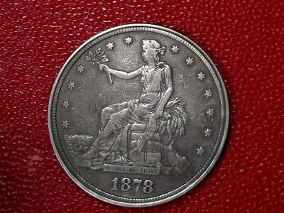 1878-S Trade Dollar U.S. Coin Hinged Opium Snuff Box - COOL SILVER COIN #C771