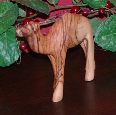 Hand Carved Olive Wood Baby Camel - Matte Finish 4.5 inches tall